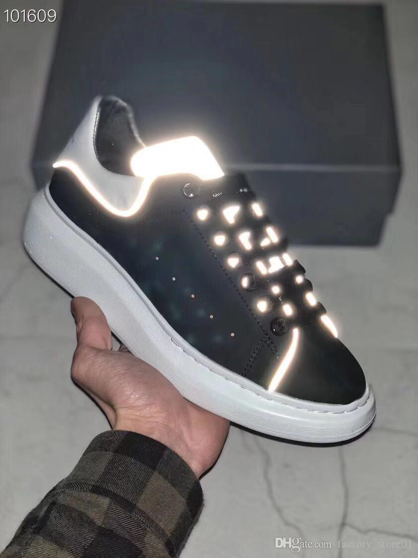 2019 Designer de Luxo Homens calçados casuais Melhores Cheap Mens Womens partido Sneakers Moda Wedding iluminadas calça as sapatilhas Tênis