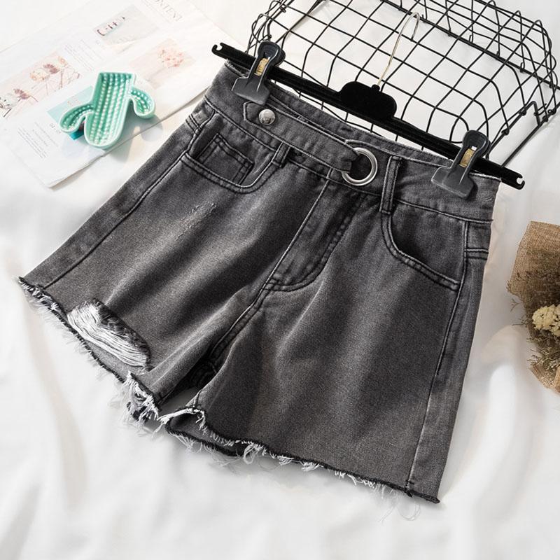 2020 Sommer-Art-Kurzschluss-Jeans-beiläufige lose Shorts Plus Size High Waist Damen der neuen Frauen Shorts pantalones cortos 9742