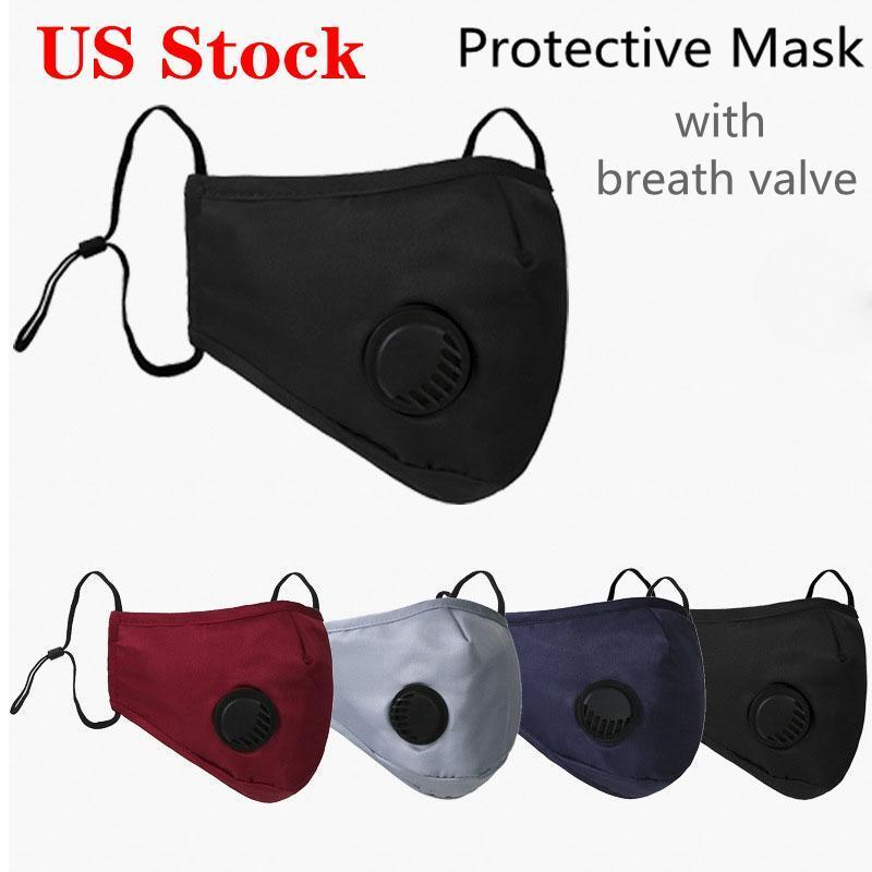 Designer Reusable Face Masks Black With Value Carbon Fliter Camouflage Anti Dust Cycling Protective Face Mask with one filter free FY0016