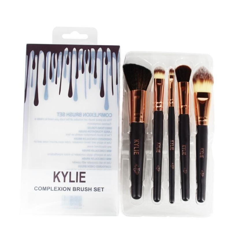Kylie Jenner Complexion Brush Set Nake Eyeshadow Paletas Foudation Escovas High Tech Make Up Tools