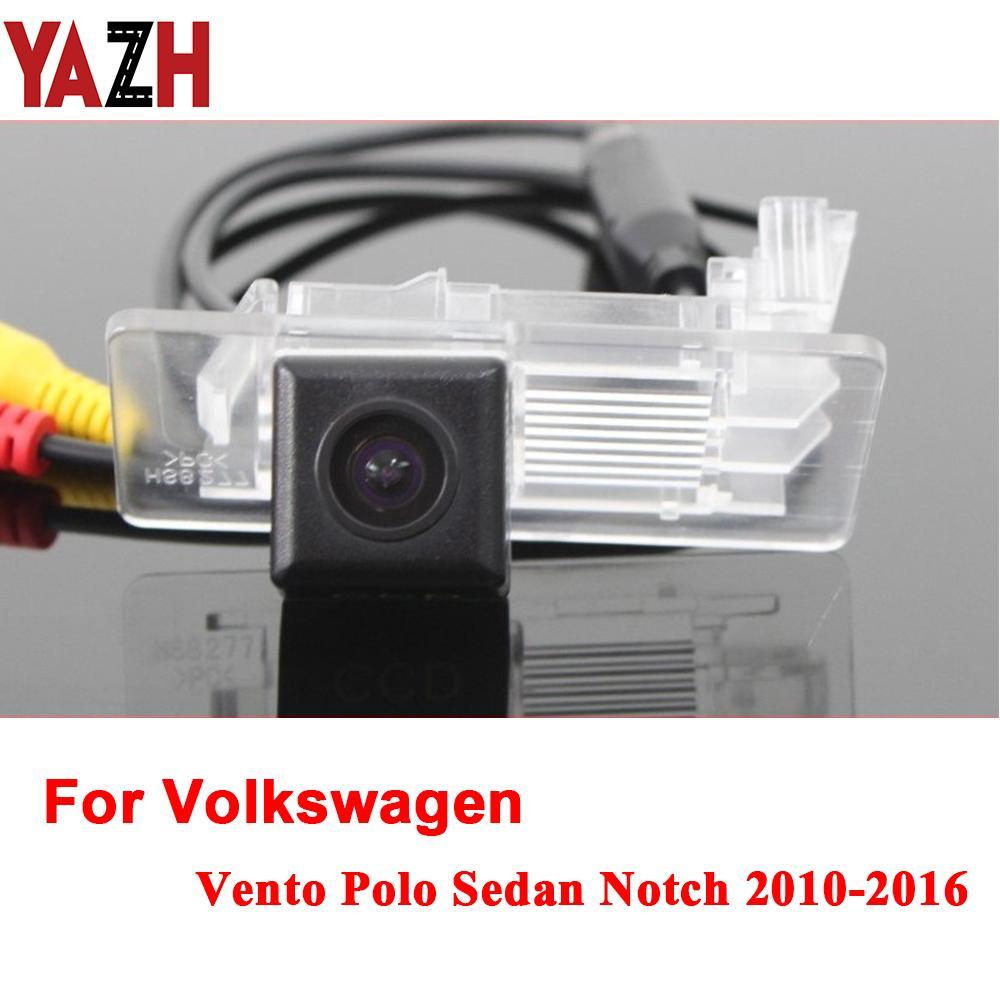 Car Rear View Camera For Volkswagen Vento VW Polo Sedan Radio Parking Reverse Camera HD RCA NTST PAL License Plate Light Camera