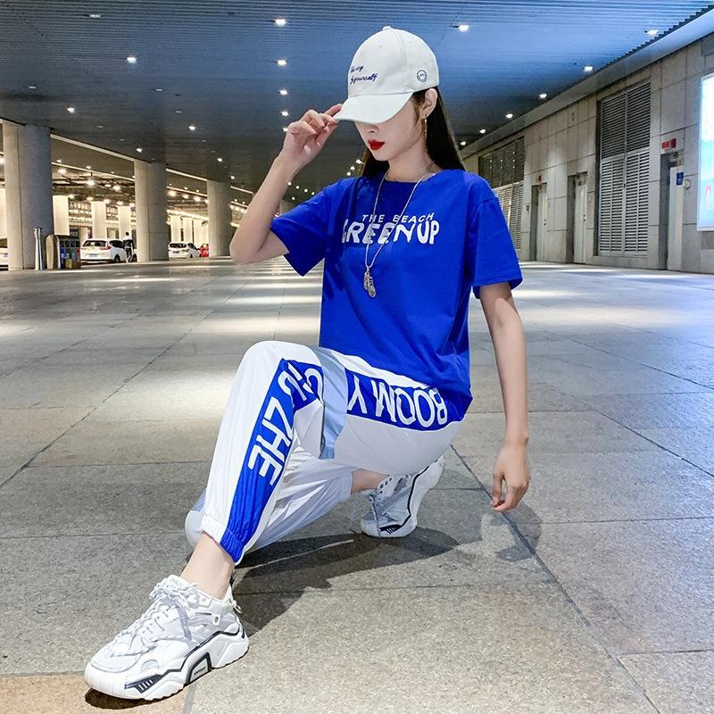 sfakB 2020 Sommer neue Platz Kleidung Fitness-Kleidung zieht Geist Modetanz Tanzkleidung Frauen Kleidung Set für