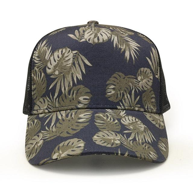 US popular fashion look designer colorful leaves printing casual baseball ball caps for women female man girls without top