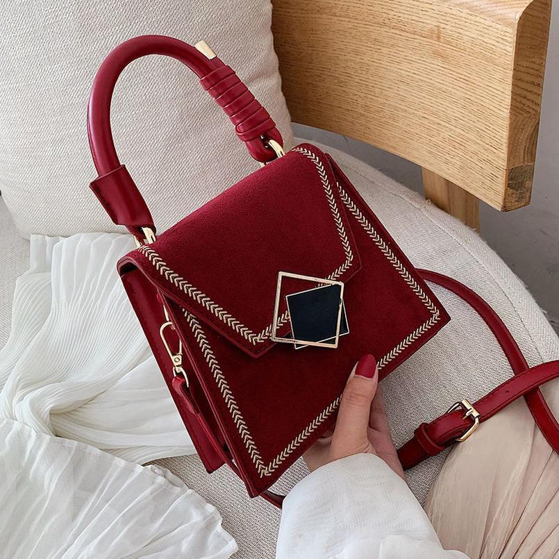 Pietra del reticolo Cuoio Borse Crossbody per le donne Plain 2020 spalla del messaggero sacchetto femminile Piccolo borse e portamonete