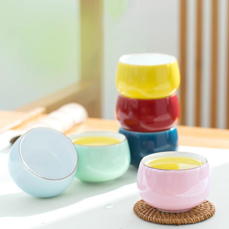 Celadon Zen Master Cup El yapımı Seramik Tek Çay Kupası Ev Çay Bowl Aksesuarları Ev Dekorasyonu