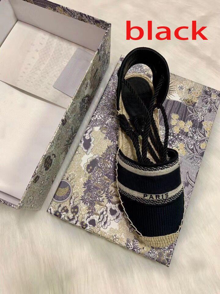 plataforma del diseñador de moda casual sandalias del verano del alfabeto zapatos pescador mujer de lujo de zapatos de cáñamo cuerda de hierba tejida sandalias de Baotou tamaño 35-42