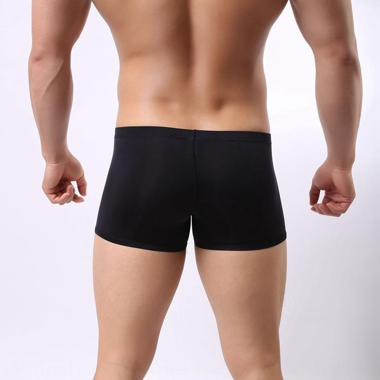 Men's Ice Silk elephant nose sexy JJ convex Dew Underpants underpants egg scramble egg separation boxer underwear