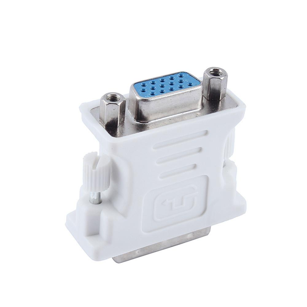 DVI-I 24 + 5 Erkek HD 15 Pin VGA Dişi Ekran Kartı Monitör Dönüştürücü VGA Adaptör Kullanımı PC dizüstü Beyaz Ücretsiz Nakliye için