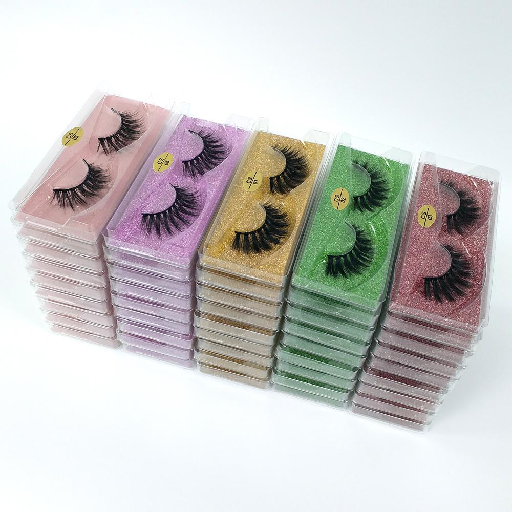 3D Nerz Wimpern Großhandel 10 Stil Natürliche lange Mink Rimes Handgemachte Falsche Wimpern Full Strip Wimpern Make-up Falsche Wimper in der Masse