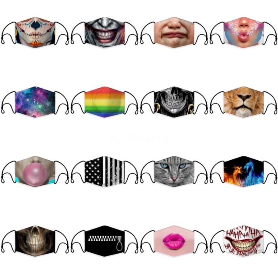 En Stock PM2.5 algodón máscara de la máscara a prueba de polvo y el smog de protección máscara de respiración de la válvula puede insertarse Filtro verano EEA1760 # 116