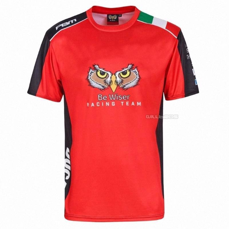 Frete grátis Moto GP Seja Red Wiser Racing Team Rally Superbike Red T-shirt para a motocicleta bicicleta XLJe #