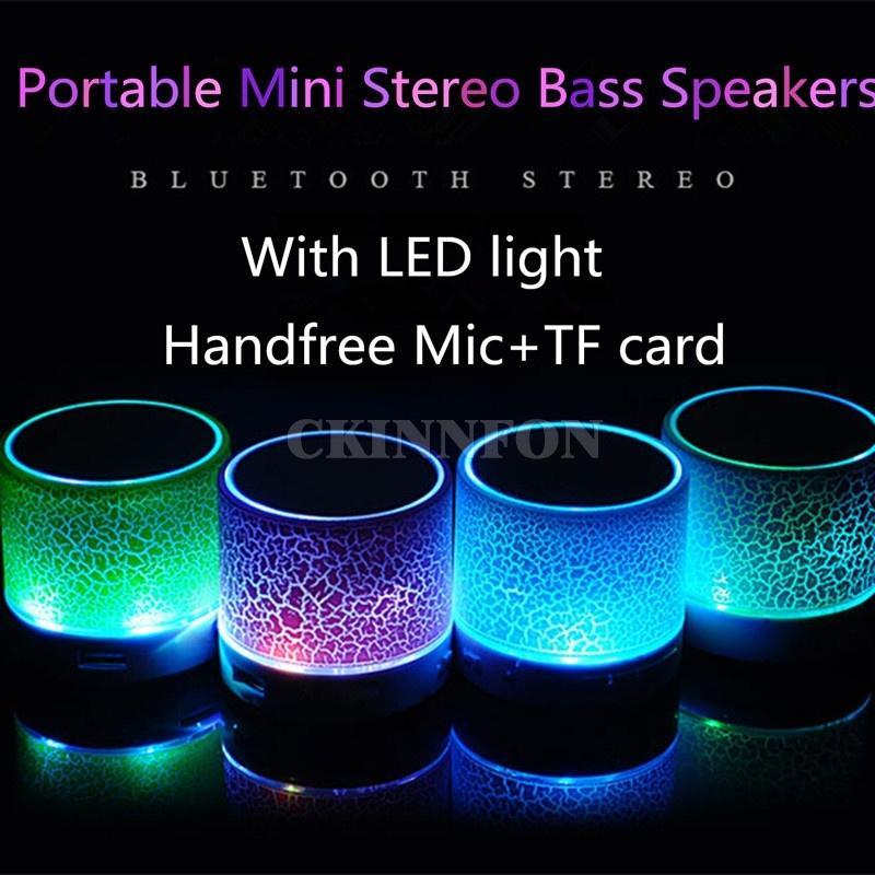 200pcs / Lot Haut-parleurs basse stéréo portable Lecteur de musique sans fil Haut-parleur TF