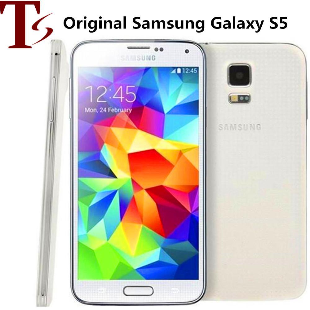 Original para Samsung Galaxy S5 G900F G900V G900A G900T G900V con original Quad Core batería de 2 GB / 16 GB Reformado Ulocked Teléfono