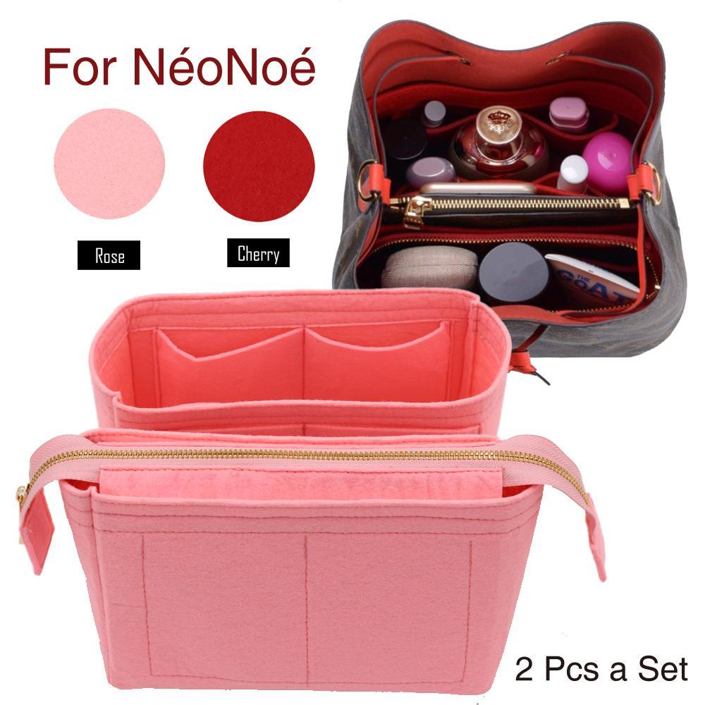 لالجدد نوي إدراج حقائب المنظم ماكياج حقيبة يد تنظيم سفر محفظة الداخلية المحمولة قاعدة التجميل المشكل لNeonoe Y19052501