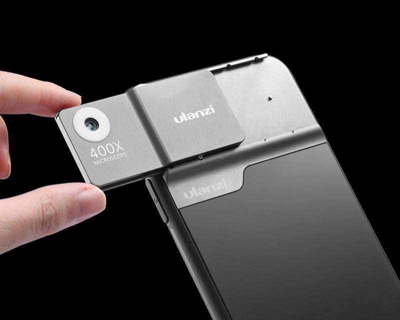 Fit U-объектив iphone11 / Pro / макс сотовый телефон микроскопа объектив телефон случае 400X Микроскоп USBcharging 110mAh литиевая батарея Светодиодный свет