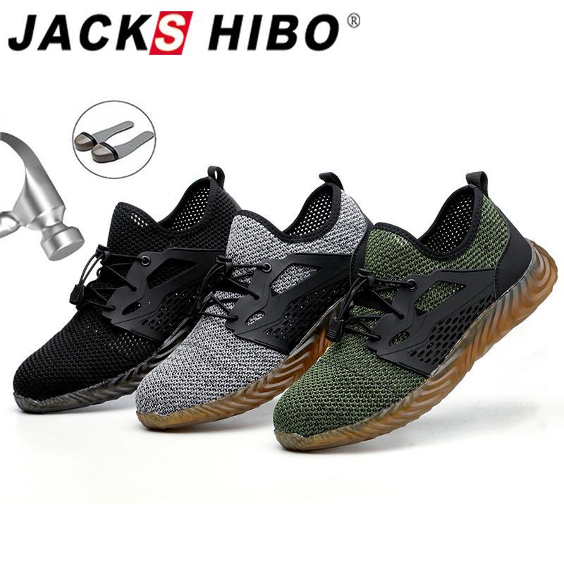 Arbeitssicherheit Schuhe für Männer Sommer-Breathable Stiefel Arbeiten mit Stahlkappe Anti-Smashing Aufbau-Sicherheits-Arbeitsschuhe