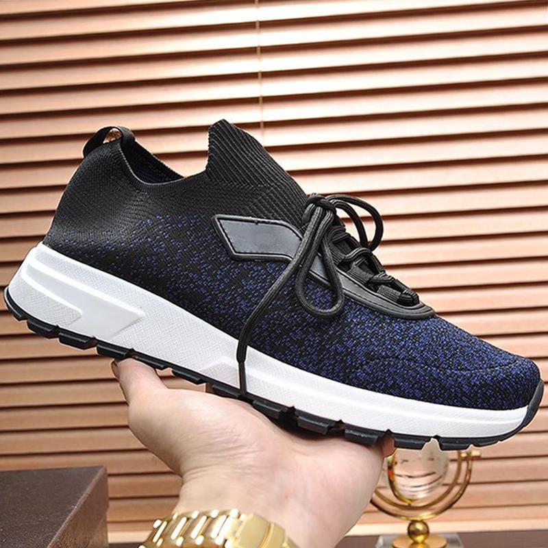 2020 Shoes Prax 01 Knit tecido de luxo Shoes Casual Com Origem Box de alta qualidade ao ar livre Plano da sapatilha Footwears Scarpe Da Uomo Ef635