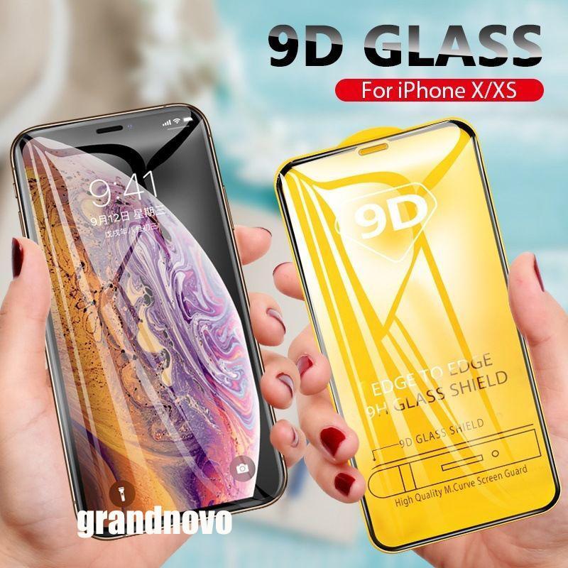iPhone Para Protector 9D cobertura completa completa Glue vidro temperado aresta curvada Screen Guard Film 12 Pro Max 11 XS XR X 8 7 6 6S Além disso SE 2020