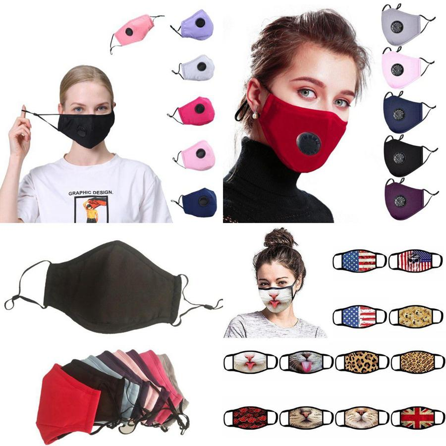 PM2.5 Pamuk Çocuk Kamuflaj Yeniden Yıkanabilir Yüz Maskeleri OOA8214 Çok Stil Karışık Anti Toz Yetişkin Maske