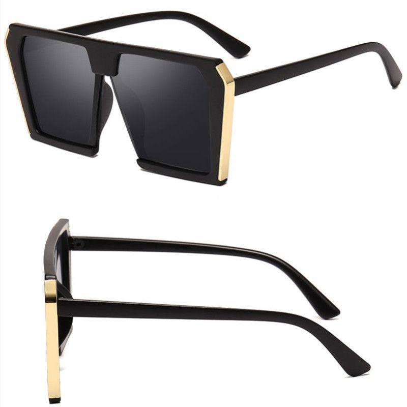 Vintage Fashion Square Plaza grandes gafas de sol de las mujeres de gran tamaño del conductor Gafas Gafas de sol Señora femenina Sombras UV400
