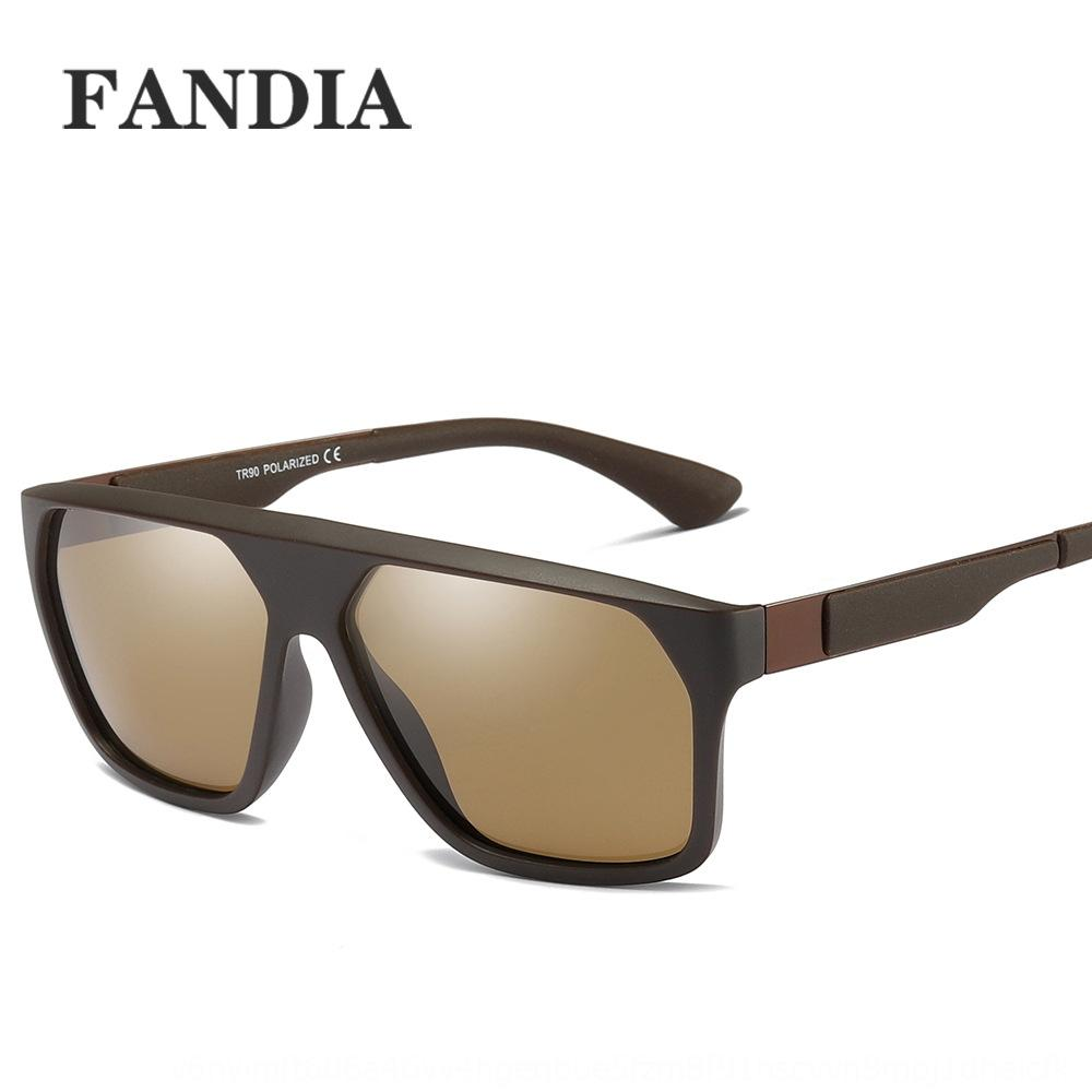 P0051 TR90 grande cornice di sole gli occhiali da sole moda occhiali raffreddare moda maschile TAC1.1 polarizzato di