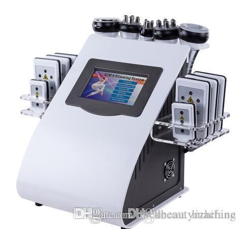 جديد حار 6 في 1 التجويف فراغ آلة راديو تردد عن منتجع صحي سريع 8 وسادات ليبو ليزر آلة التخسيس