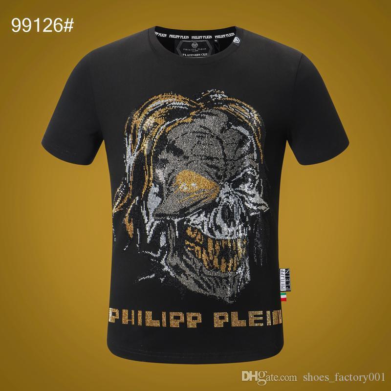 20SS Women Mens Designer T Shirts Luxury Phillip Plain T Shirt Summer Homme off black white Skull superme Tee Tops bag tracksuits 08