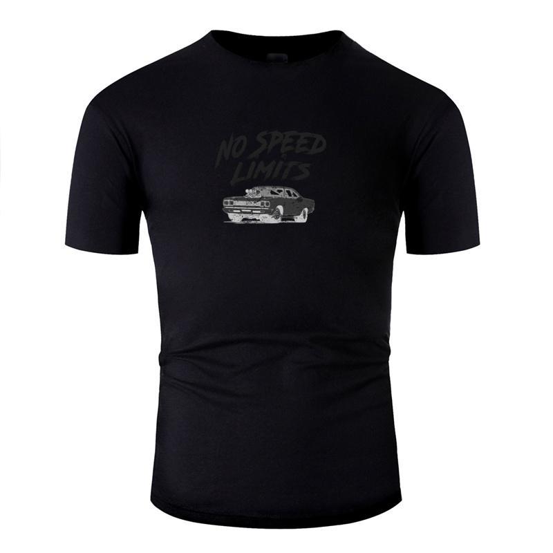 Camiseta de la moda 100% de algodón de los hombres cómicos Sin límites de velocidad rápida Tuned Motores Hot Rods Negro Camisetas clásico Hiphop