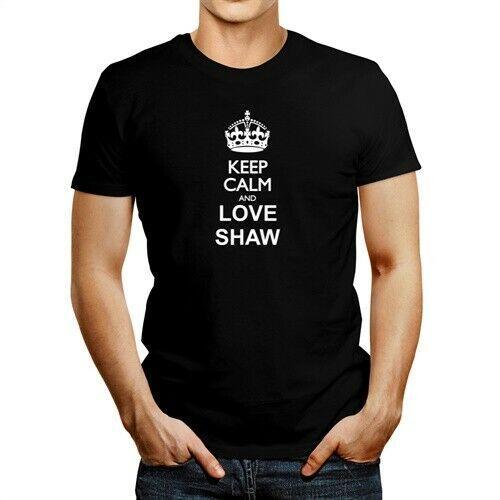 Сохраняйте спокойствие и любовь Шоу T-Shirt Men Sleeve T Shirt Summer Men Tee Топы Одежда