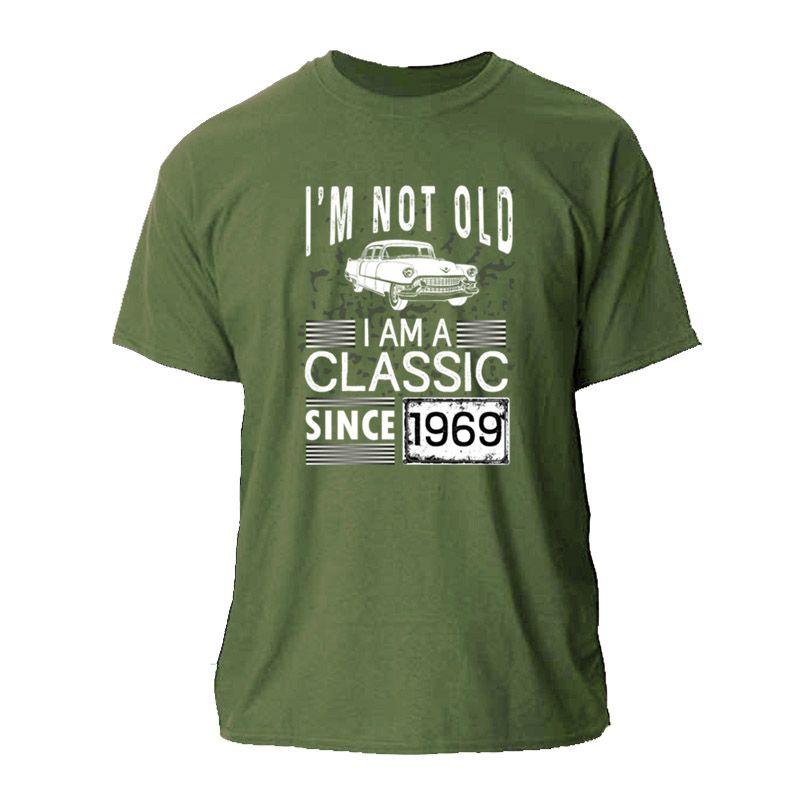 NUOVO MODO NON SONO VECCHIO SONO UN CLASSICO DAL 1969 LA MAGLIETTA cool T shirt uomo DONNE MASCHIO UNISEX MAGLIETTA COLLO HIP HOP