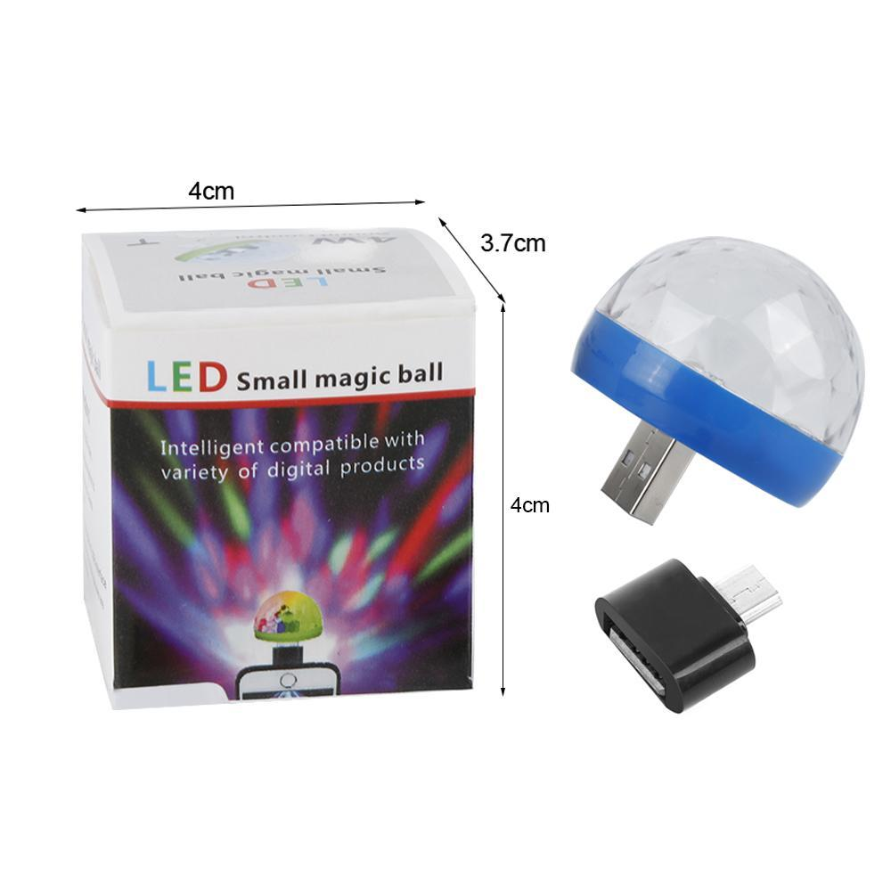 Mini USB свет диско СИД партии света этапа Красочный эффект света DJ Light Lamp Для дома Party Karaoke Украшение Dropship