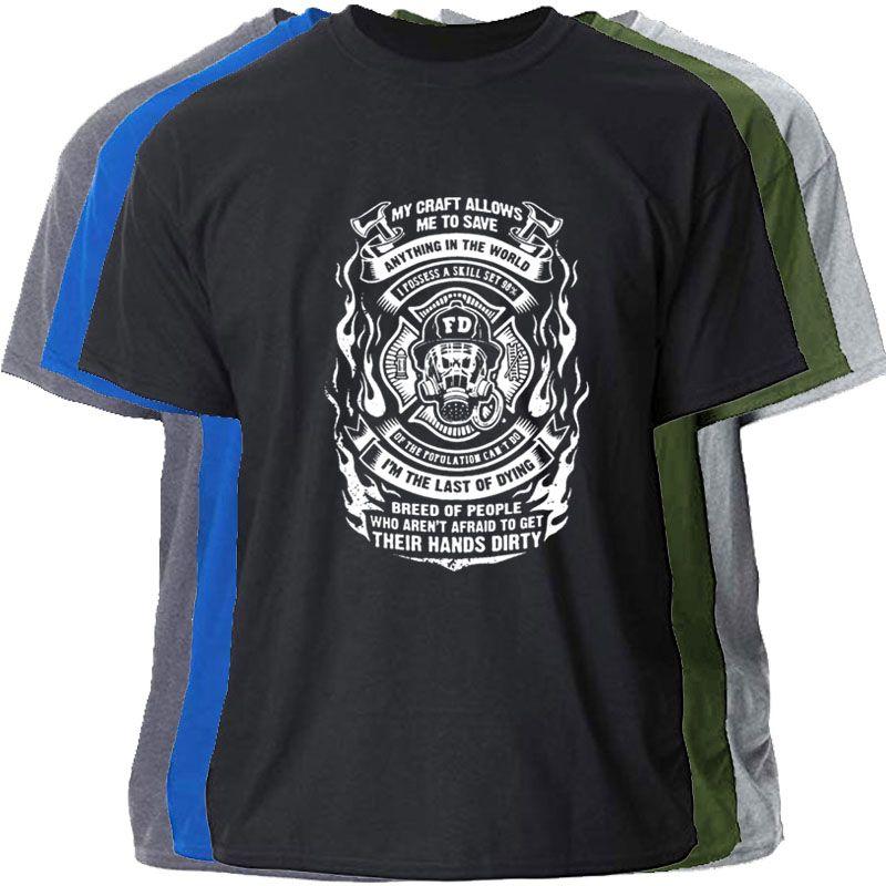 Impreso bombero mi oficio me permite Guardar anythin camiseta para hombre del regalo de la letra T clásico para hombres Mujeres sólido camiseta del color Top