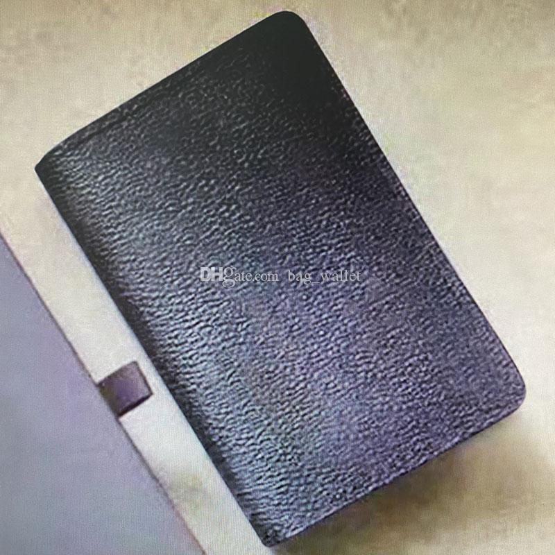M60502 N63145 ORGANIZER POCKET Wallet Card Holders Mono Leather Compact Bifold Short Men Pochette Wallets Business Credit Card Clip