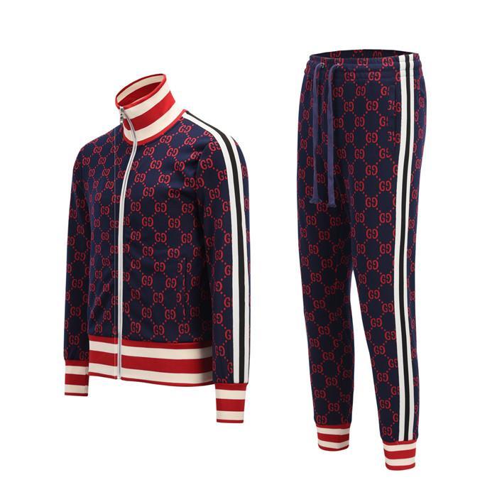 Traje de deporte de manga larga de lujo 202 diseñador ocasional Traje Carta sudadera con capucha + pantalones TG hombres de la camiseta de la marca de deporte Conjunto