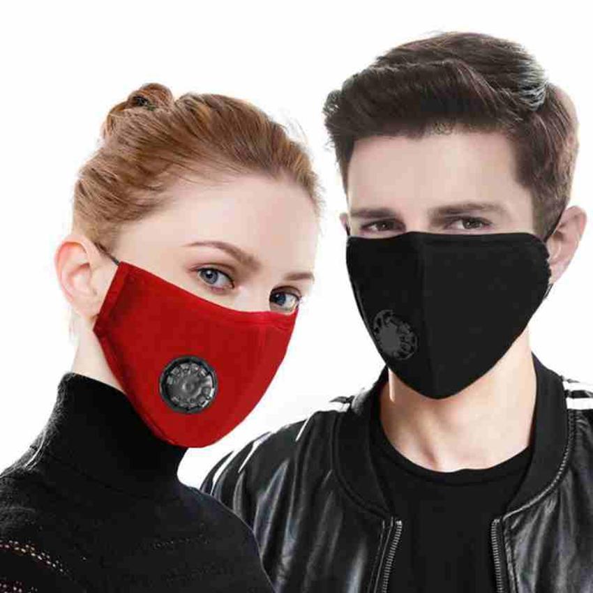 5 modèles Masque anti-poussière masques de soupape de respiration masques réglables en bouche réutilisables lavable masques P2,5 CYZ2479