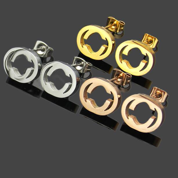 2020 Nouvelle arrivée de qualité supérieure en titane style classique en acier plaqué or Goujons Extravagant Boucles d'oreilles pour femmes Party Cadeaux prix de gros