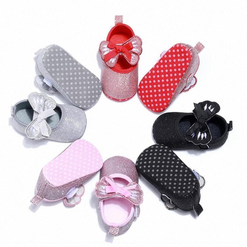 2020 Les enfants quatre saisons Chaussures Mesh Bow Bow bébé tout-petits filles Sequin Lit Chaussures Tendance Chaussures Casual Glitter bowknot Robe dy9y #