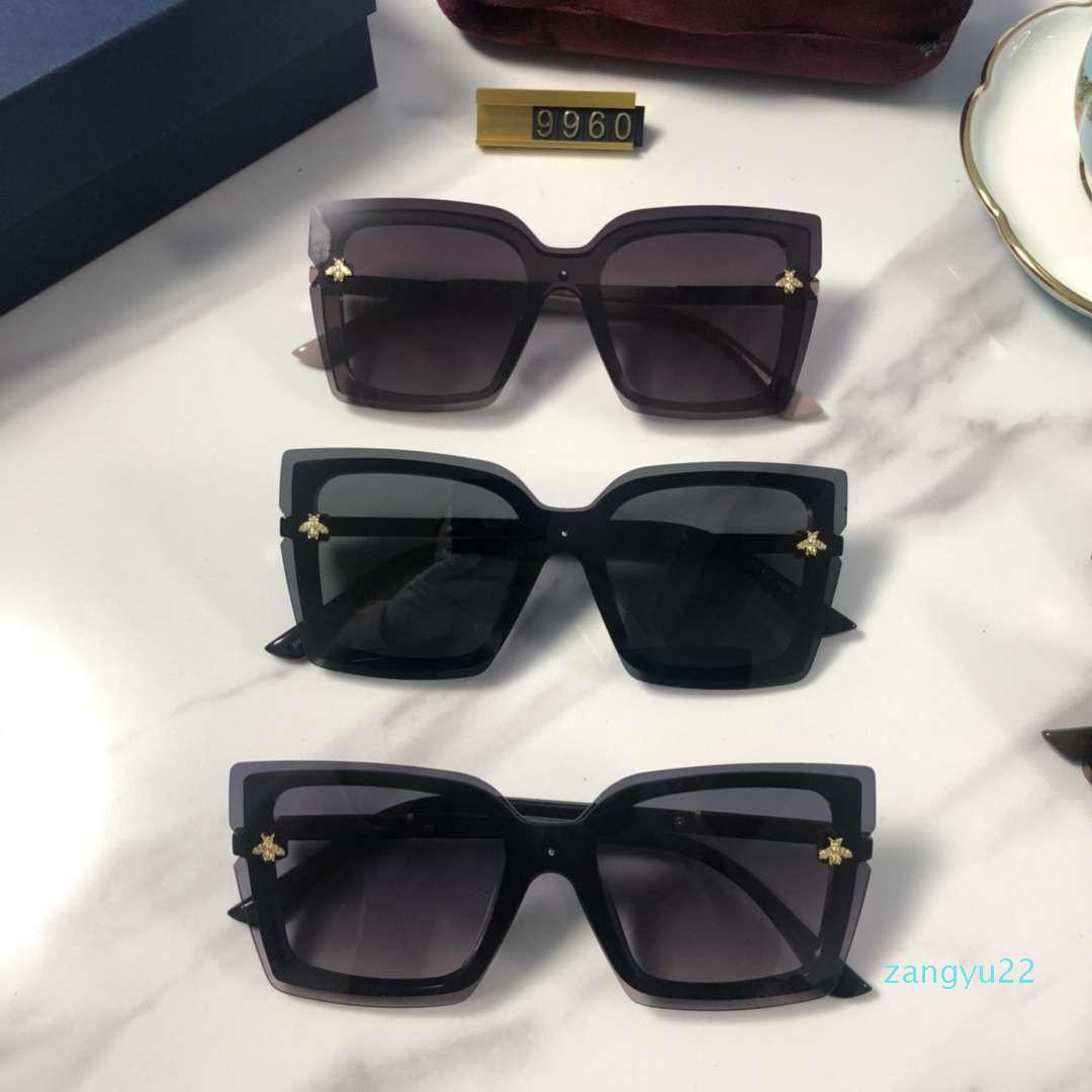 9960 Kadın Tasarımcı Güneş Lüks Güneş Kadınlar Plajı Gözlüğü Gözlük UV400 Arı Toptan-Arrive 5 Renk Kutu ile Yüksek Kalite
