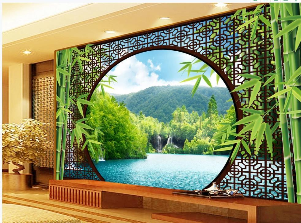 güzel sahne duvar kağıdı 3d manzara manzara klasik TV arka plan duvar 3d duvarkağıdı