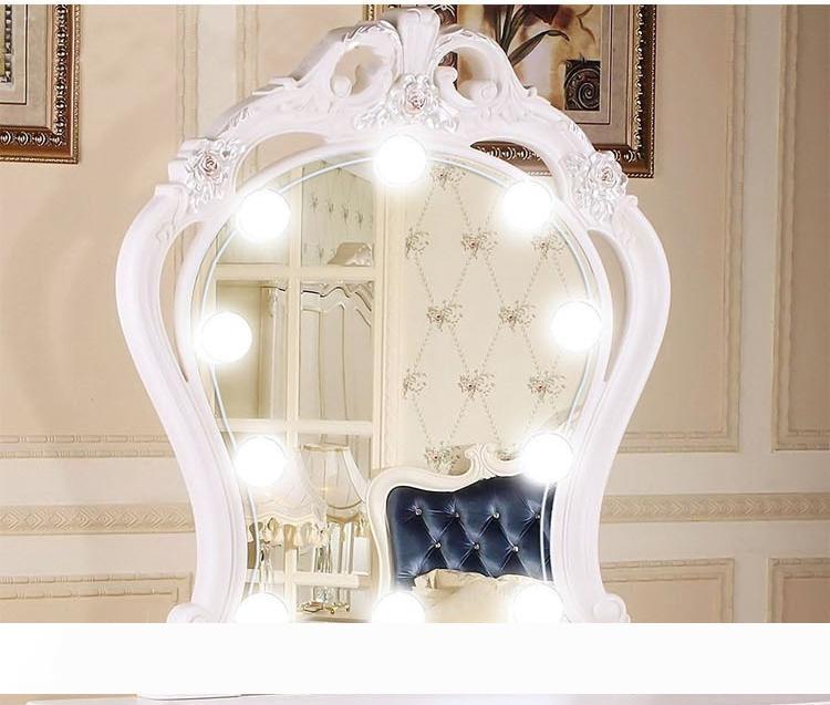 10 stücke Eitelkeit LED Spiegel Licht Make-up einstellbar Comestips Spiegellicht Kits mit dimmbarem Licht Birne Helligkeit Make-Up-Leuchten