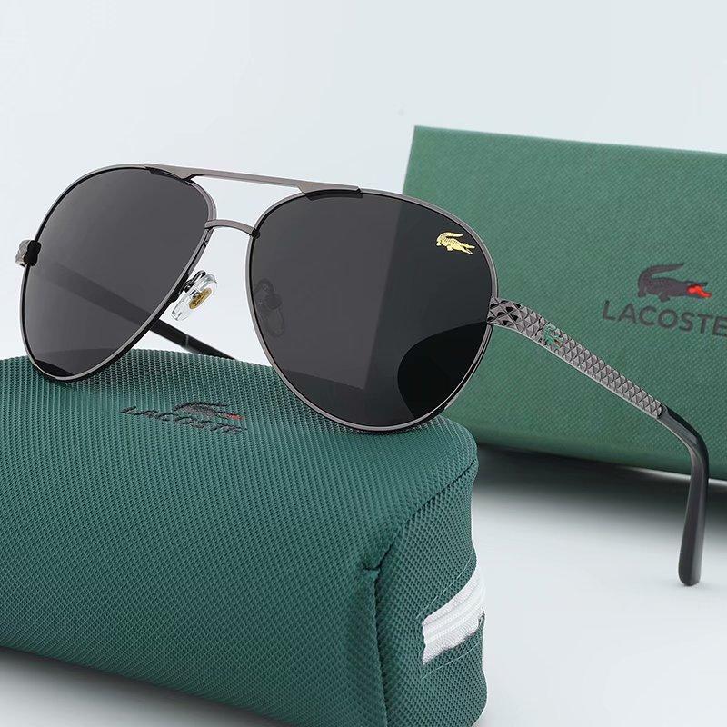 nouveaux hommes de mode 2231 grosses lunettes de soleil ovales revêtement couleur cadre lentille métal gris et brun cadre plaqué UV400 lentille de qualité supérieure