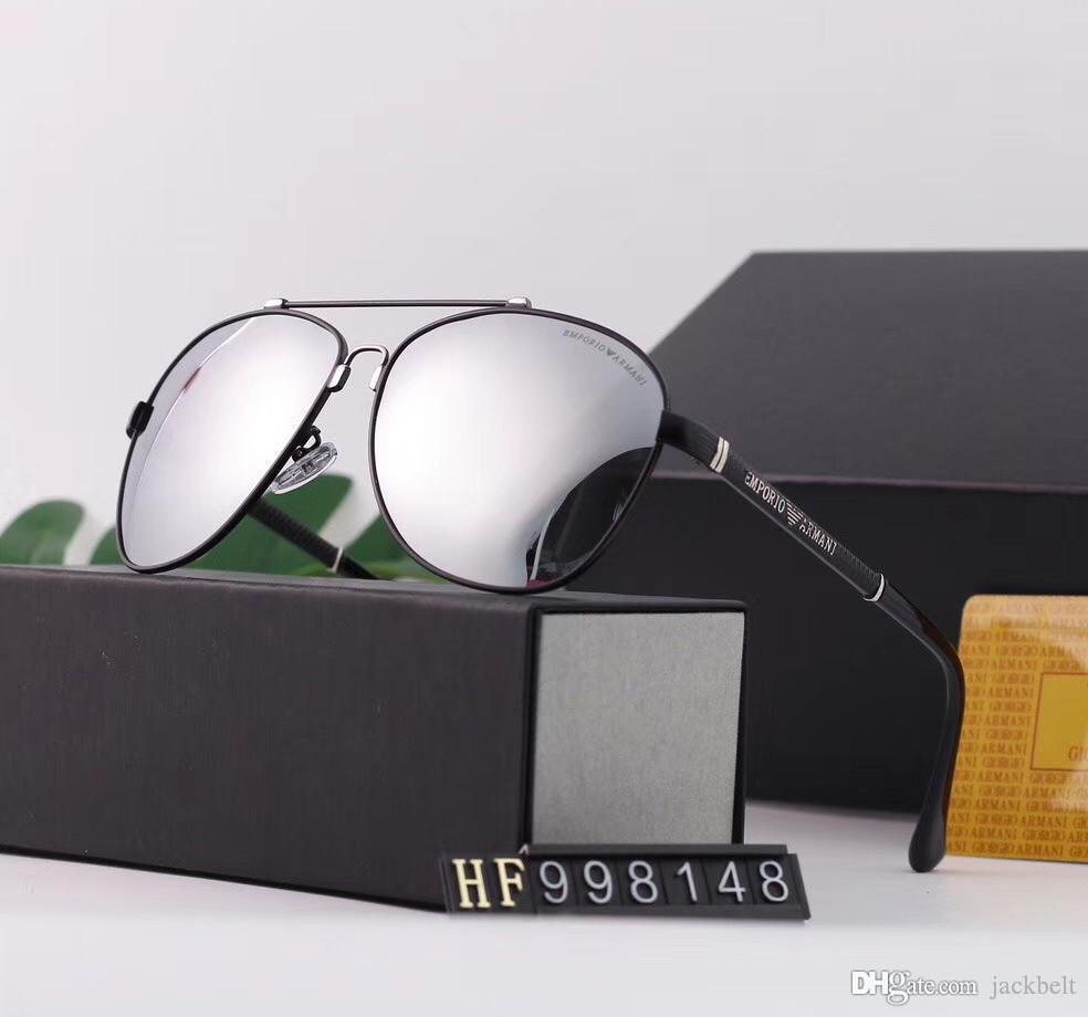 Мужские Пилотные Солнцезащитные очки Популярные поляризованные UV400 Мужчины вождения Sunglass металлический каркас Lentes очки дизайнер ВС Очки Des люнеты де Солей