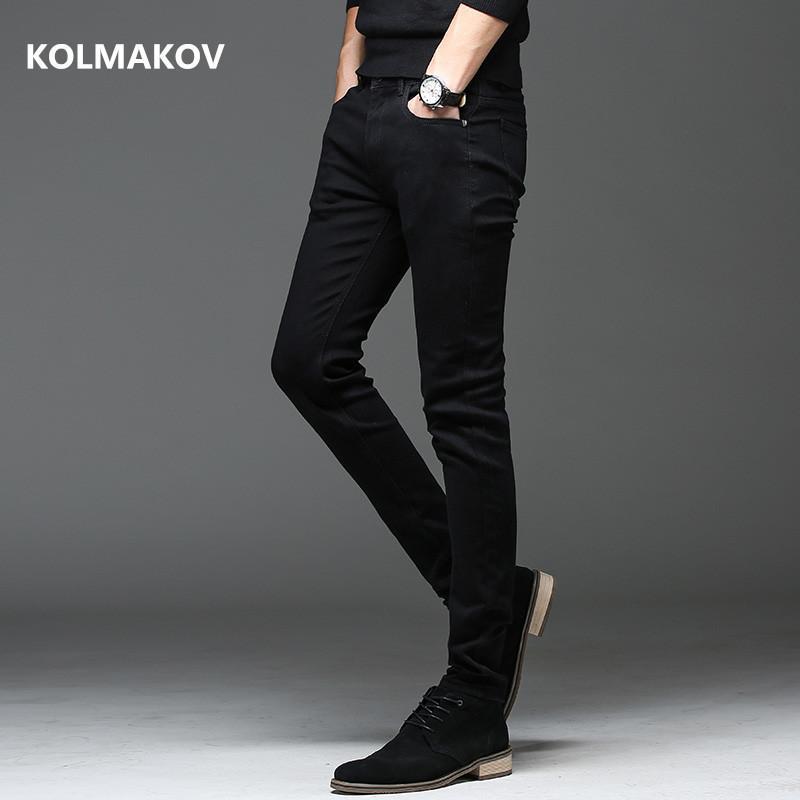 casuais Calças de alta qualidade de 2020 homens da mola outono Slim Fit homens Jeans Preto clássico Moda Jeans Skinny Jeans Masculino