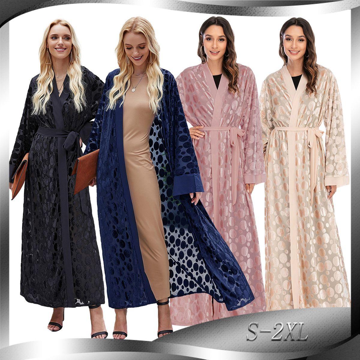 Grosshandel Eid Mubarak Kaftan Dubai Abaya Turkei Kimono Cardigan Hijab Muslimischen Kleid Islam Kleidung Abayas Fur Frauen Robe Femme Ete Qatar Cm1818 Von Donnatang240965 34 14 Auf De Dhgate Com Dhgate