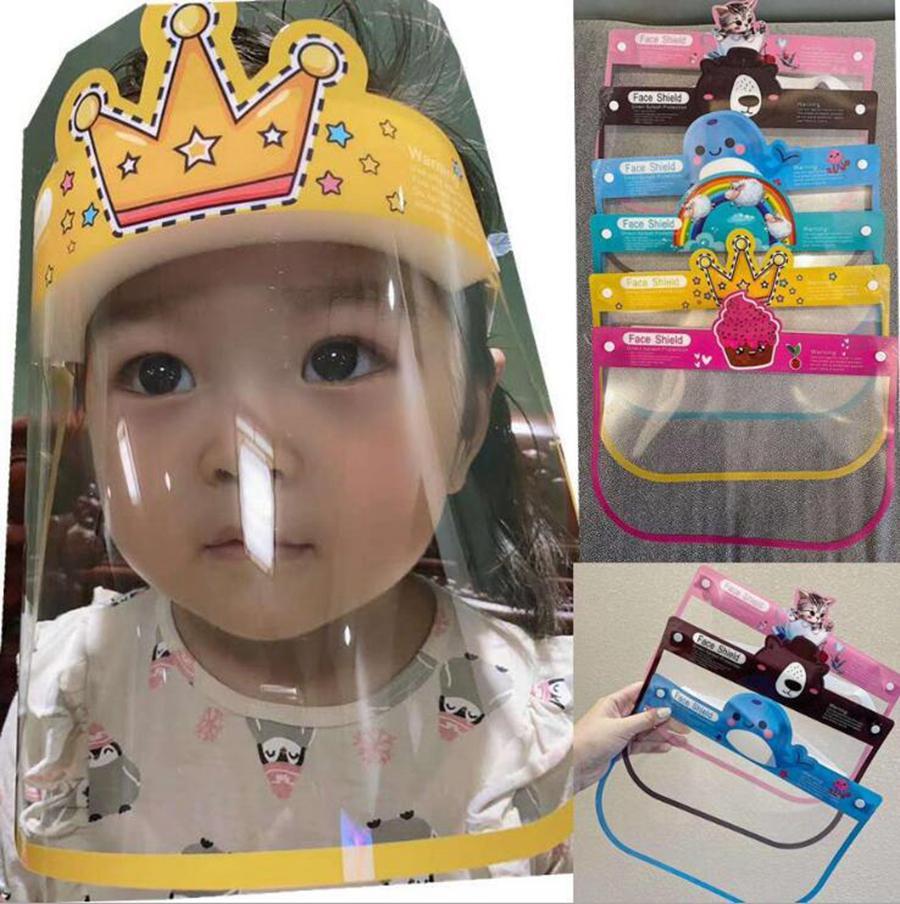 Bambini Visiera 12 stili Anti Droplet Chidren del fumetto di PET di protezione di sicurezza maschera intera Anti Fog Isolamento Maschera LJJO8193