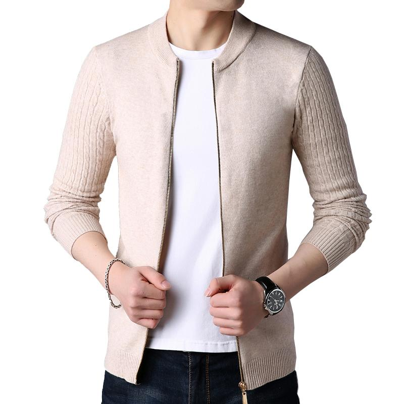 Novo outono inverno malha cardigan homens camisola cardigan camisola masculina jaqueta de cor pura