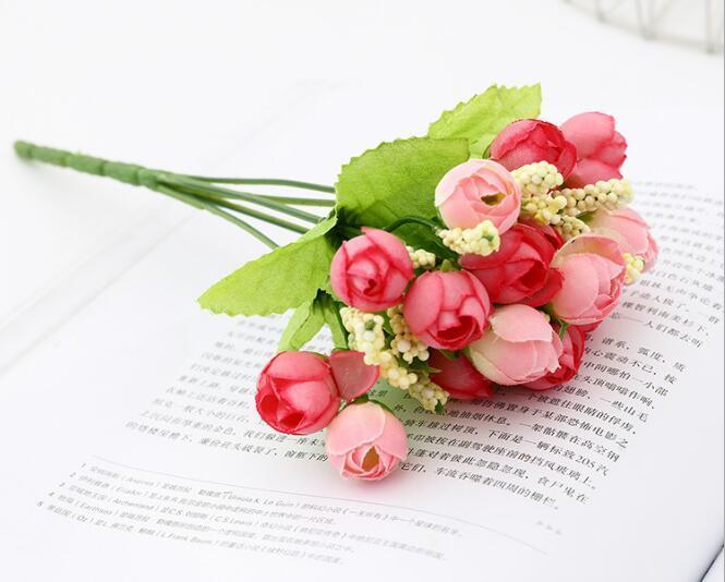 Simulada flor da estrela Bud Thumb Rose Atacado Flowe peruca flor de plástico Home Place Flor W1137