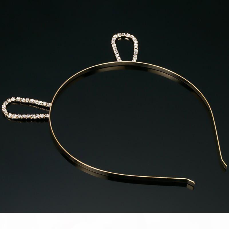O Fashion Women Girls Cat Ear Rhinestone Alloy Headband Hair Bands Accessories New Arrival Crystal Hair Hoop Jewelry H014