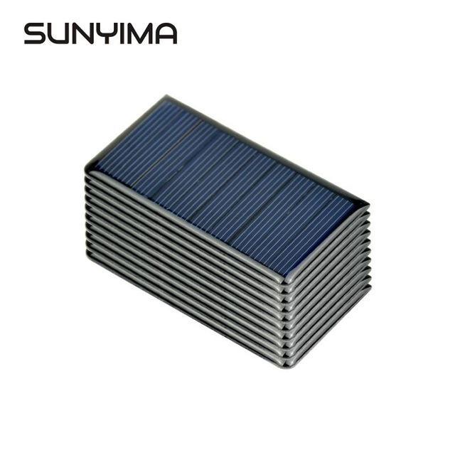 onsumer Eletrônica SUNYIMA 10pcs 5V 65mA painéis solares policristalino 68x36mm Mini Sunpower Solar Cells DIY Painel Photovoltaic por Batte ...