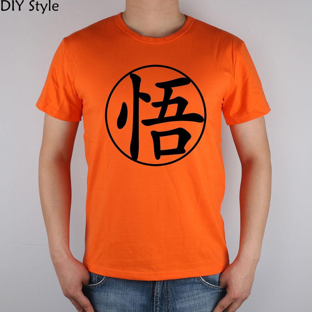 kanji T-shirt de Goku camisa Top Lycra algodão Homens T New Design Qualidade alta
